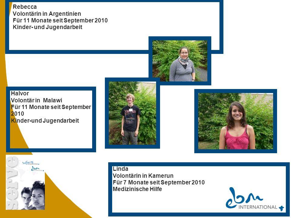 Rebecca Volontärin in Argentinien. Für 11 Monate seit September 2010. Kinder- und Jugendarbeit. Halvor.