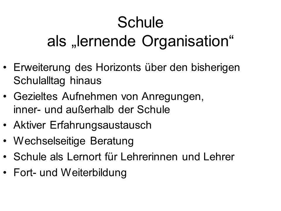 "Schule als ""lernende Organisation"
