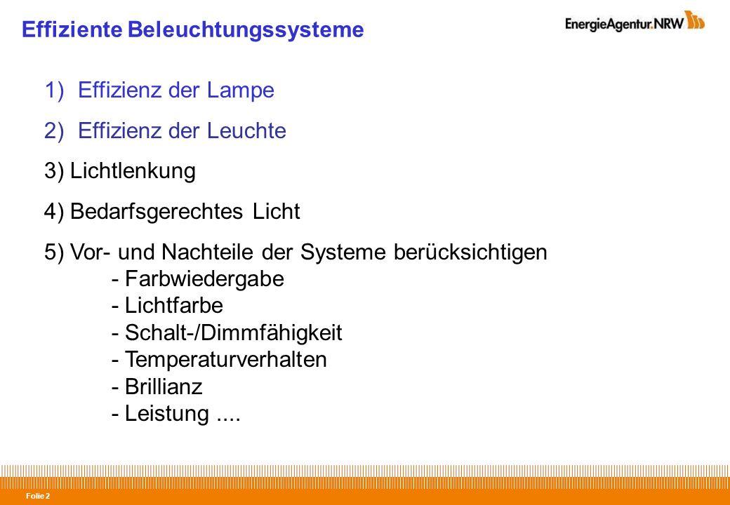 Effiziente Beleuchtungssysteme