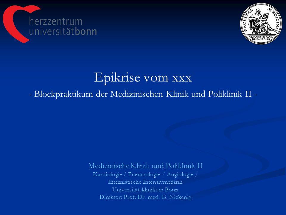 - Blockpraktikum der Medizinischen Klinik und Poliklinik II -