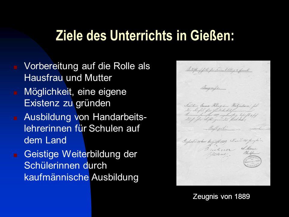 Ziele des Unterrichts in Gießen: