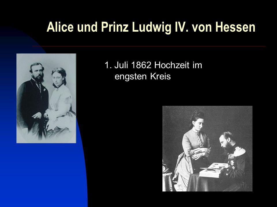 Alice und Prinz Ludwig IV. von Hessen