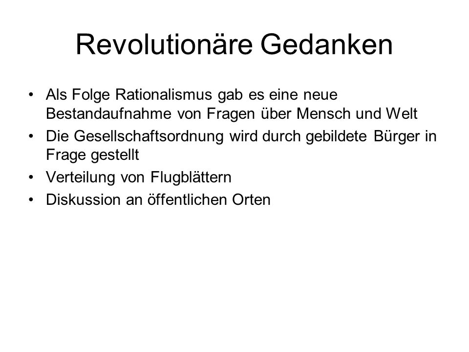 Revolutionäre Gedanken