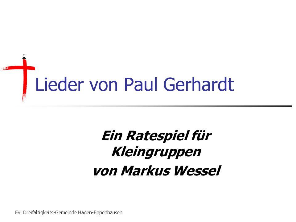 Lieder von Paul Gerhardt