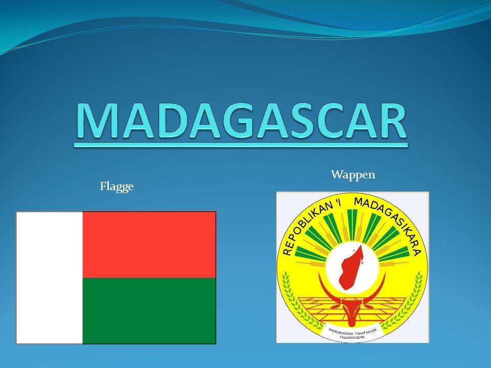 MADAGASCAR Wappen Flagge