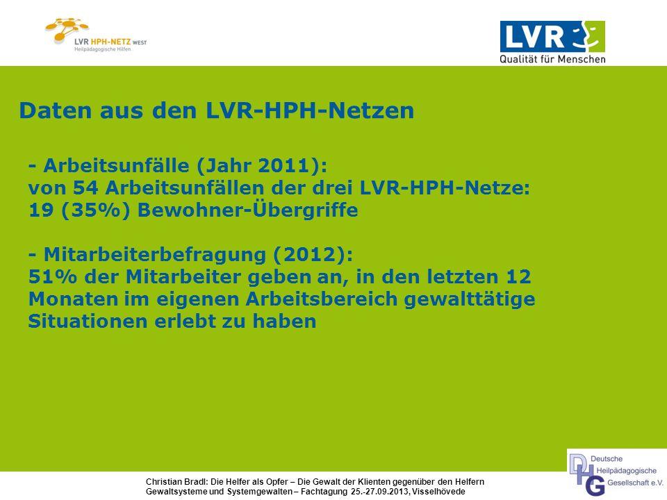 Daten aus den LVR-HPH-Netzen