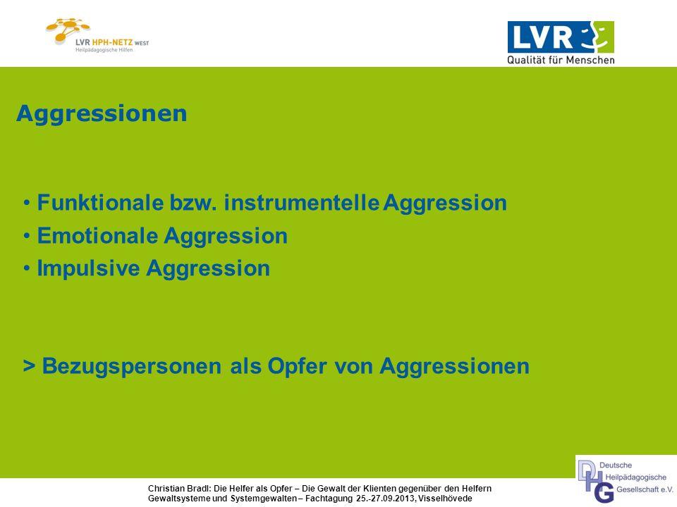 AggressionenFunktionale bzw. instrumentelle Aggression. Emotionale Aggression. Impulsive Aggression.