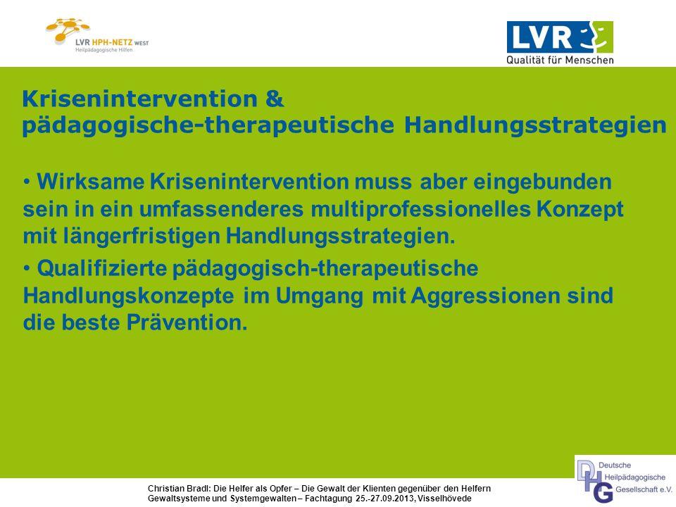Krisenintervention & pädagogische-therapeutische Handlungsstrategien