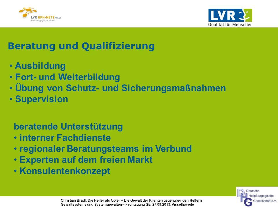 Beratung und Qualifizierung