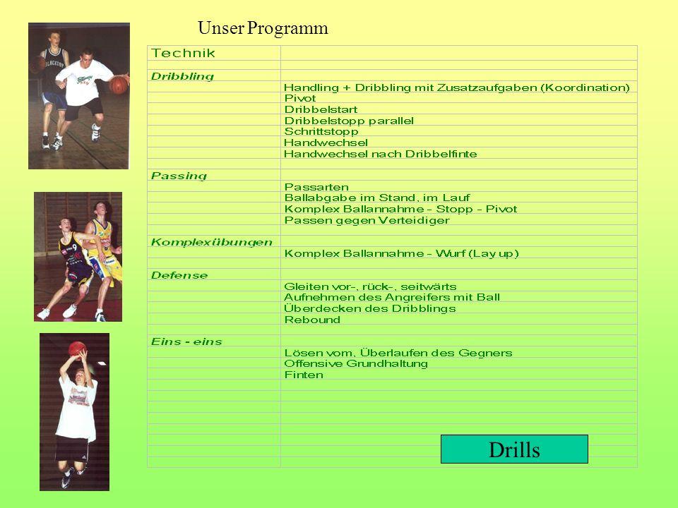 Unser Programm Drills