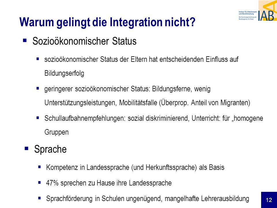 Warum gelingt die Integration nicht
