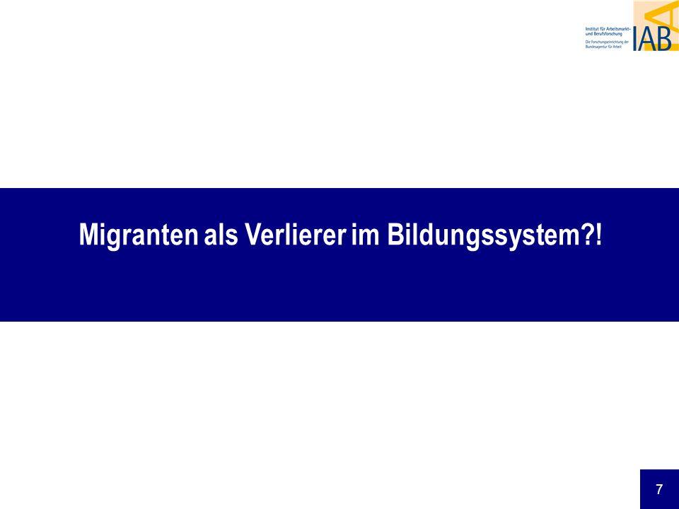 Migranten als Verlierer im Bildungssystem !