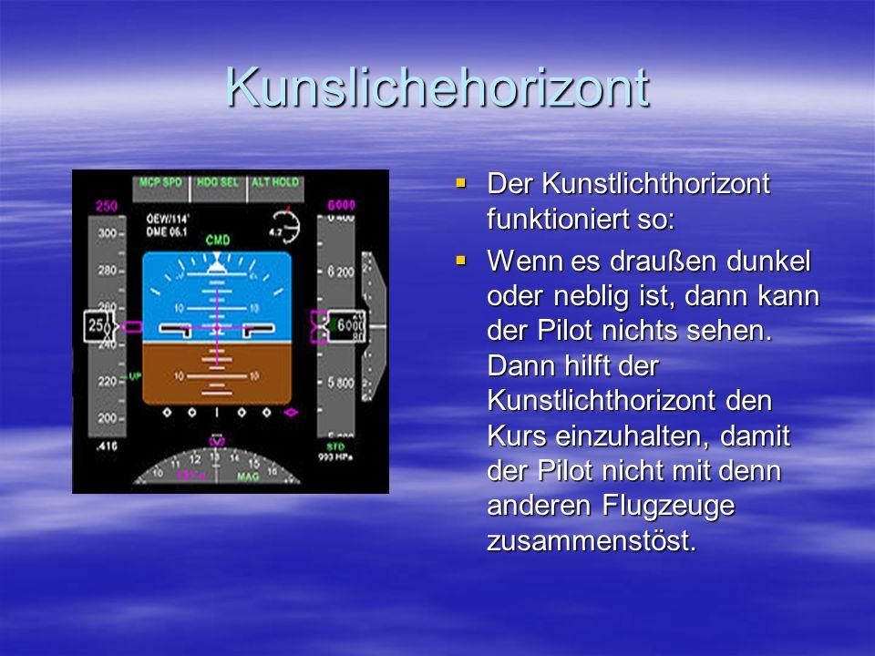 Kunslichehorizont Der Kunstlichthorizont funktioniert so: