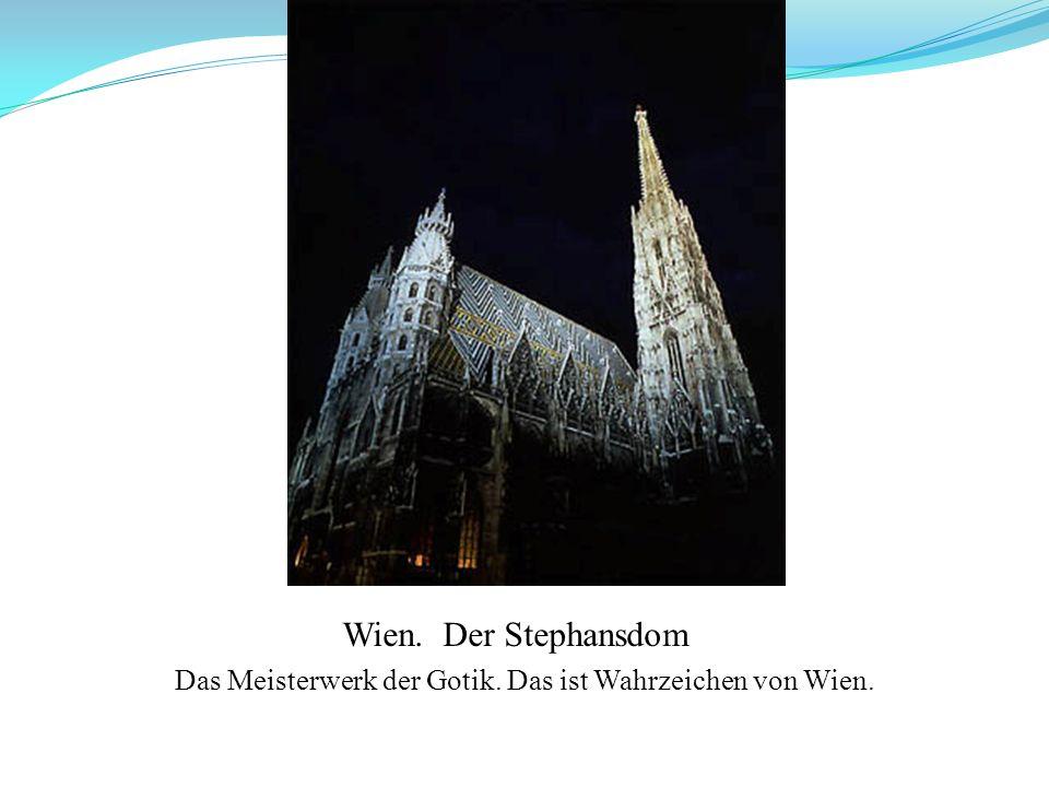 Das Meisterwerk der Gotik. Das ist Wahrzeichen von Wien.