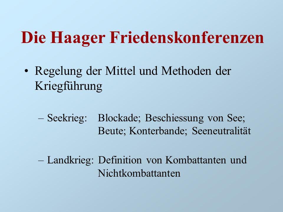 Die Haager Friedenskonferenzen