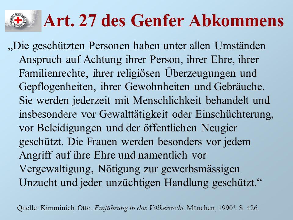 Art. 27 des Genfer Abkommens