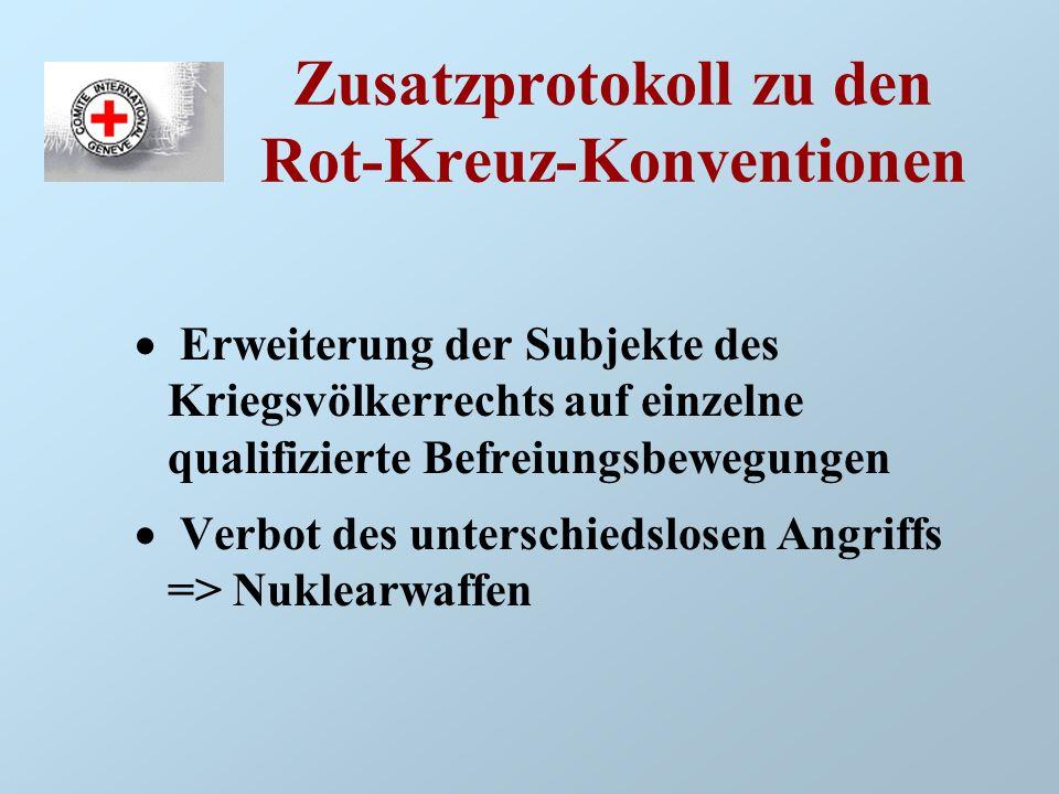 Zusatzprotokoll zu den Rot-Kreuz-Konventionen