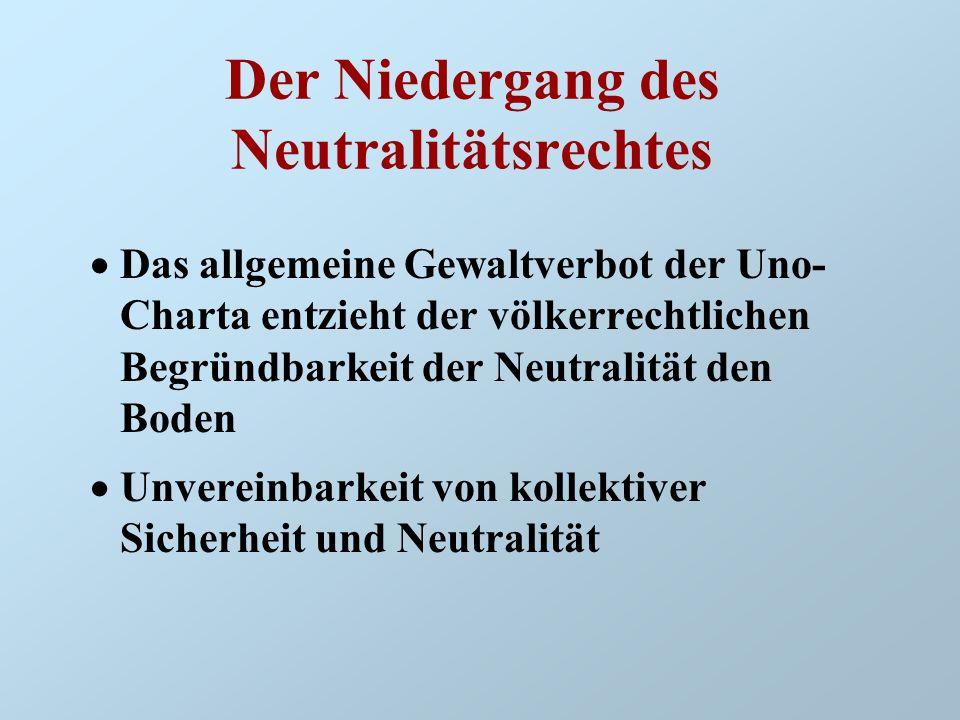 Der Niedergang des Neutralitätsrechtes