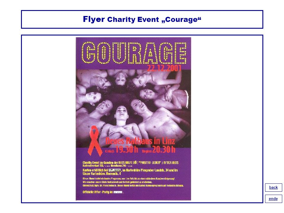 "Flyer Charity Event ""Courage"