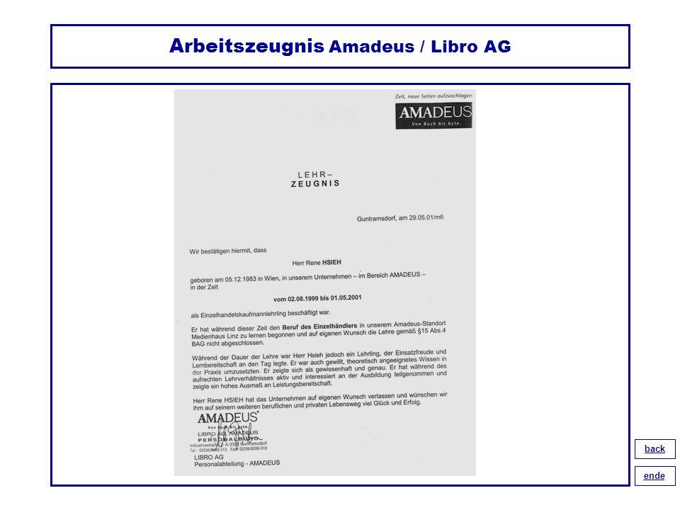 Arbeitszeugnis Amadeus / Libro AG