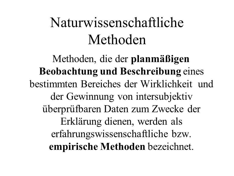 Naturwissenschaftliche Methoden