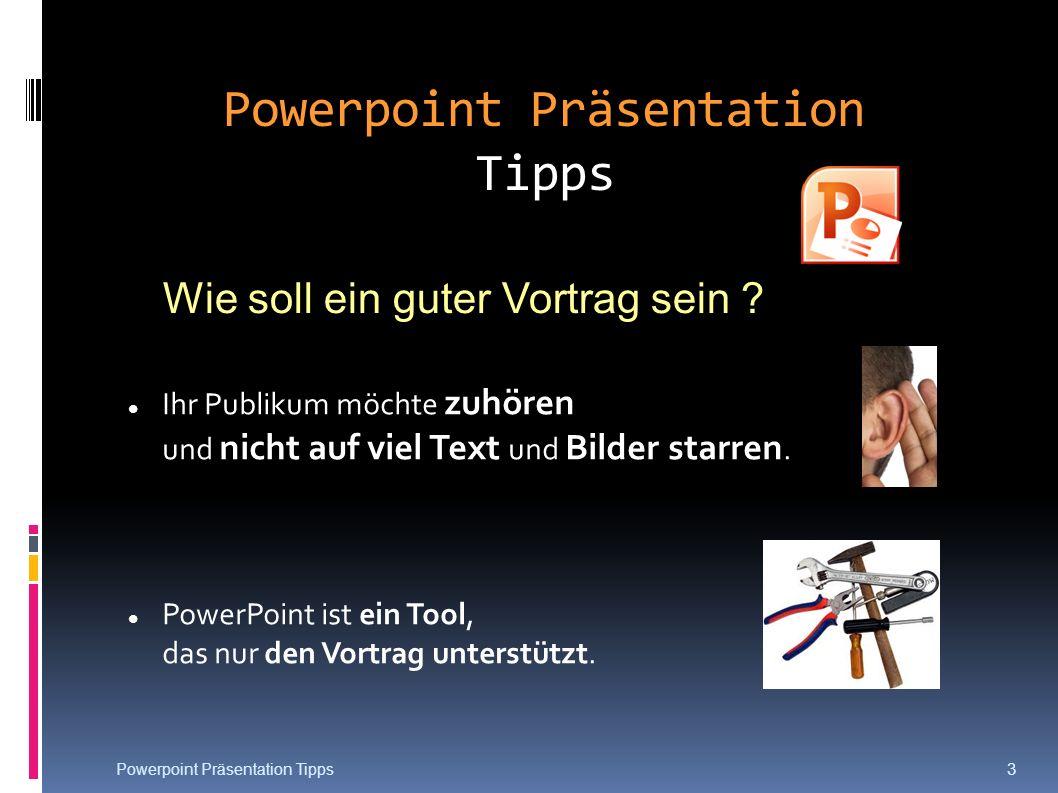 Powerpoint Präsentation Tipps