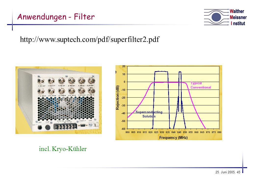 Anwendungen - Filter http://www.suptech.com/pdf/superfilter2.pdf