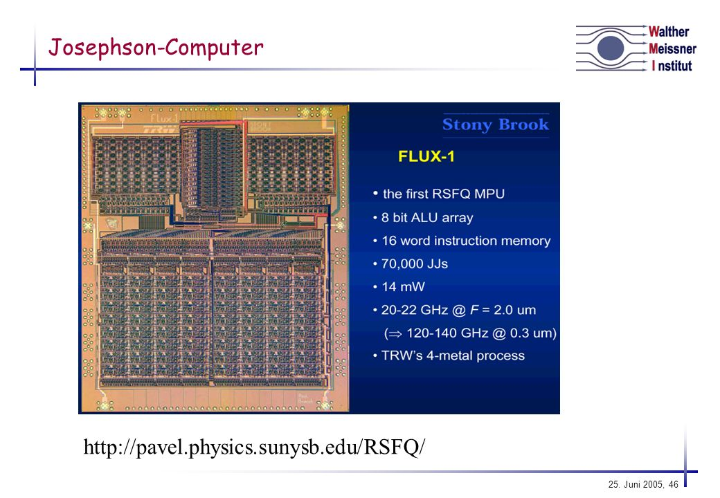 Josephson-Computer http://pavel.physics.sunysb.edu/RSFQ/