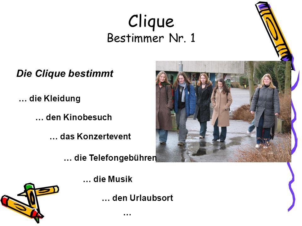 Clique Bestimmer Nr. 1 Die Clique bestimmt … die Kleidung