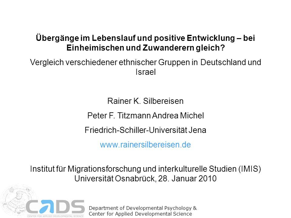 Vergleich verschiedener ethnischer Gruppen in Deutschland und Israel