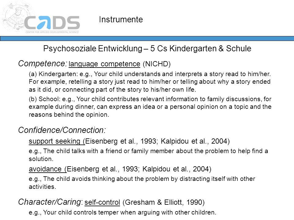 Psychosoziale Entwicklung – 5 Cs Kindergarten & Schule