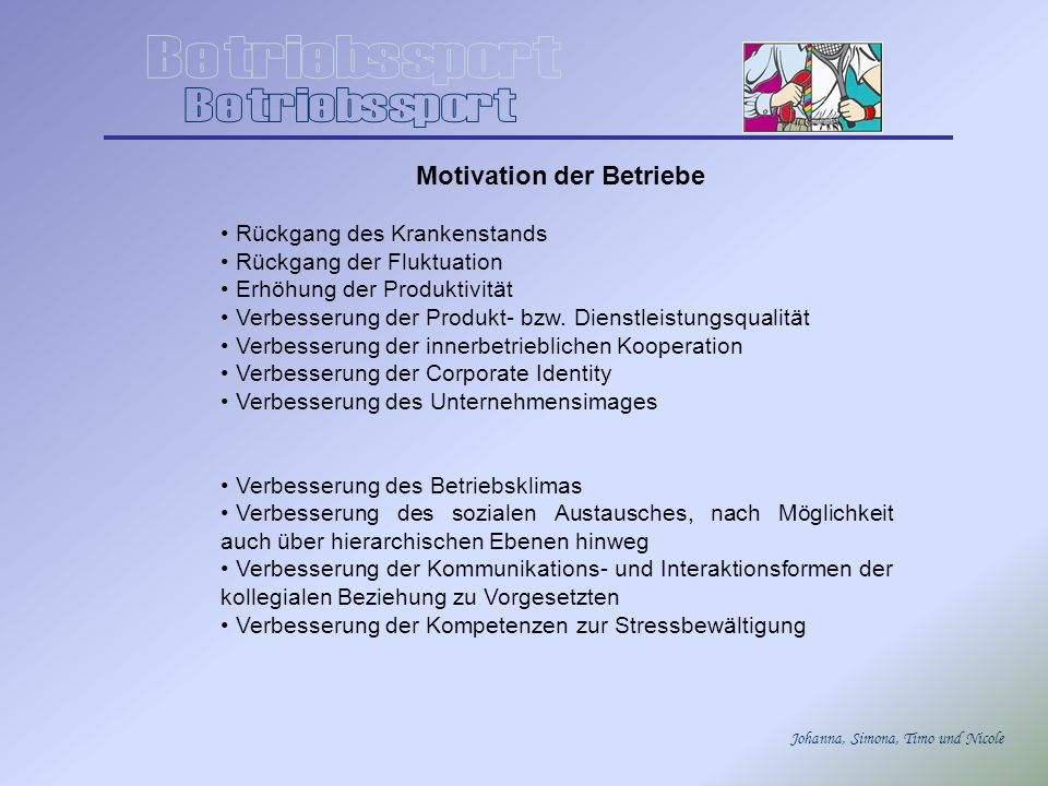 Motivation der Betriebe