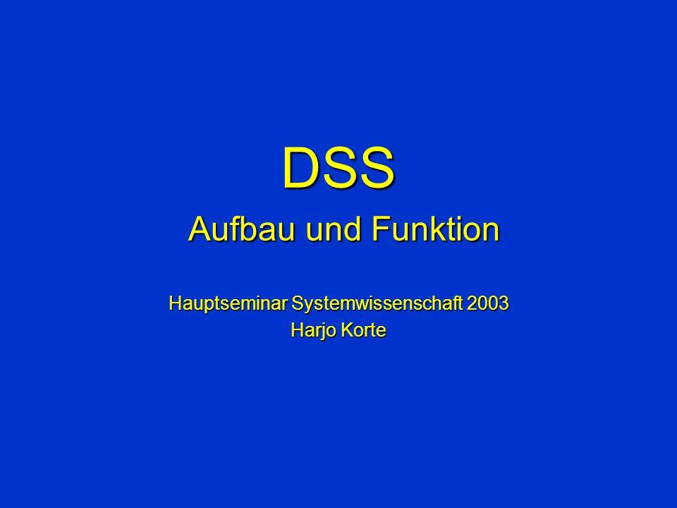 DSS Aufbau und Funktion