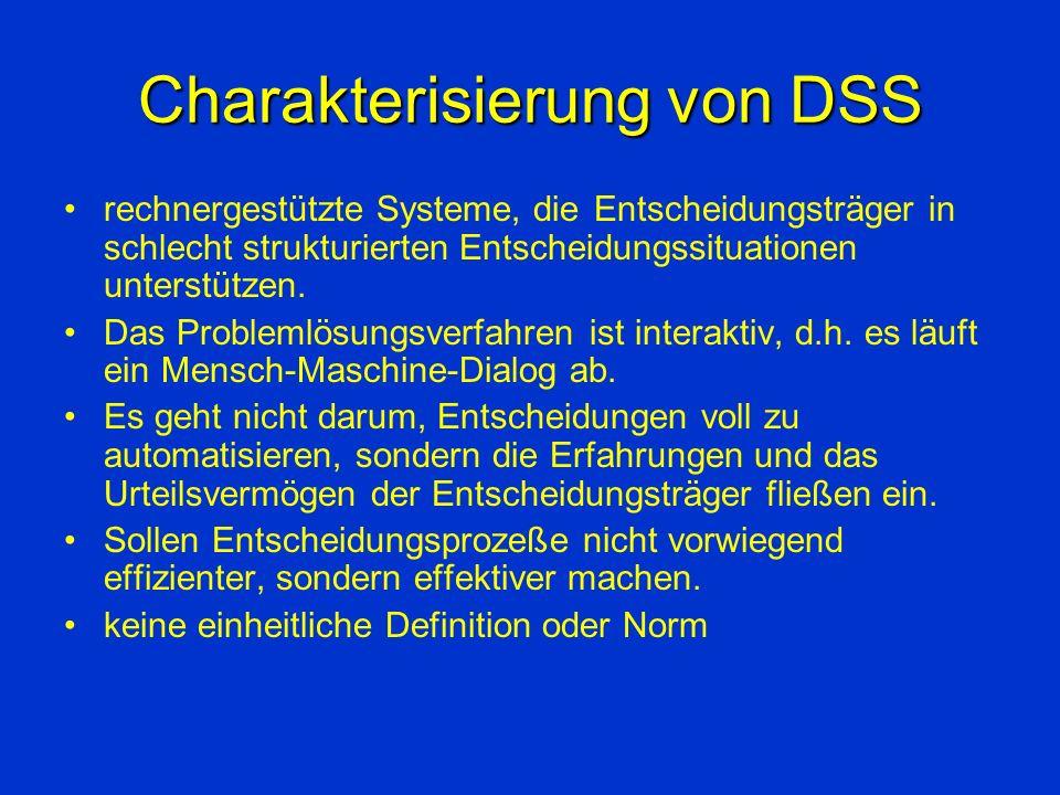 Charakterisierung von DSS