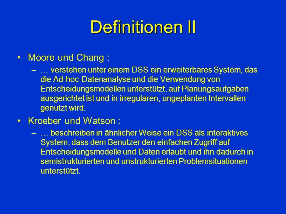 Definitionen II Moore und Chang : Kroeber und Watson :