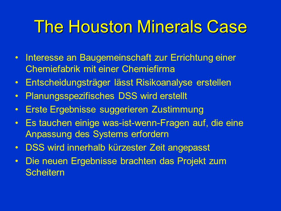 The Houston Minerals Case