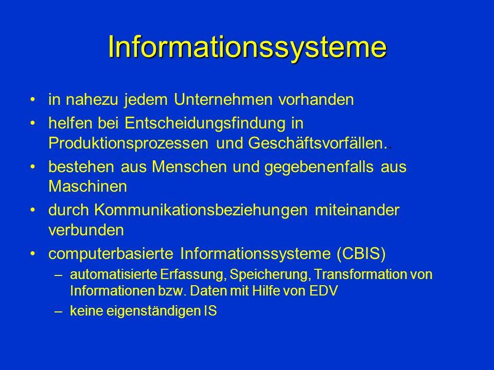 Informationssysteme in nahezu jedem Unternehmen vorhanden
