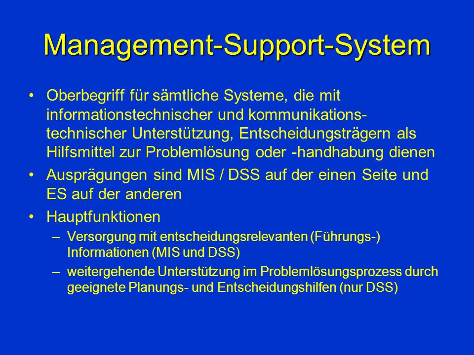 Management-Support-System