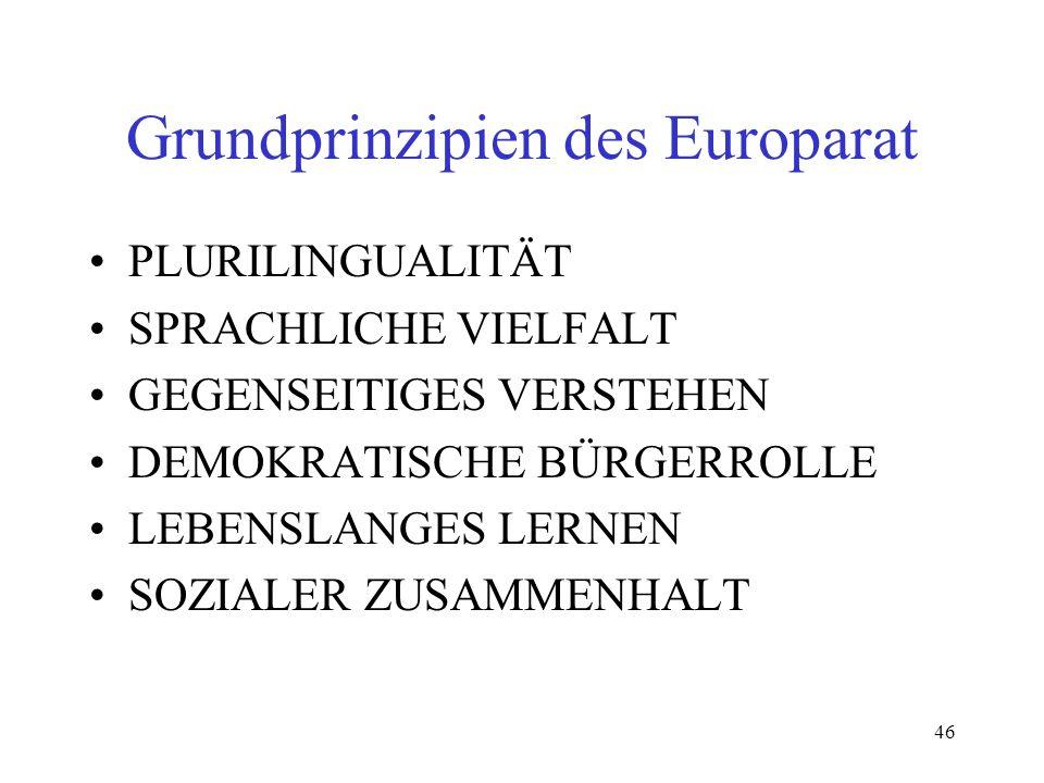Grundprinzipien des Europarat