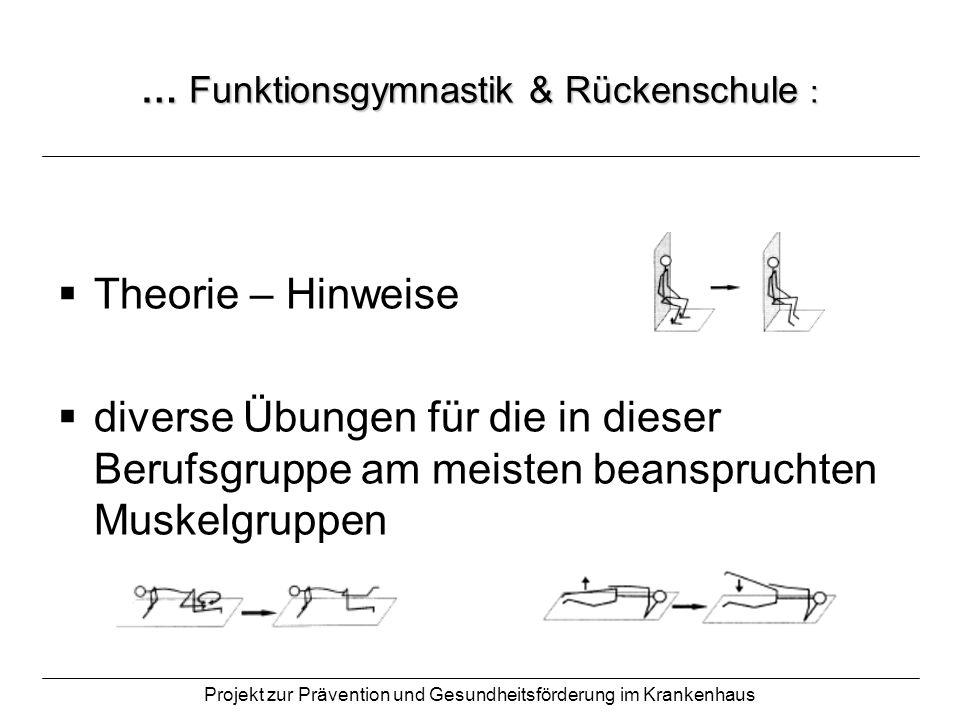 … Funktionsgymnastik & Rückenschule :