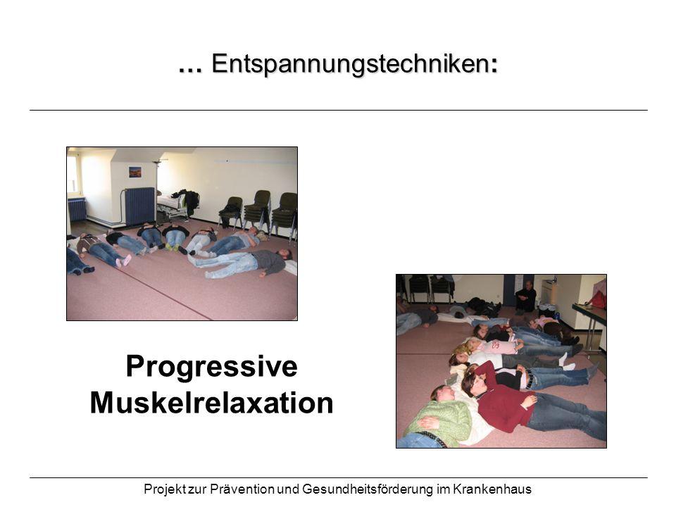 … Entspannungstechniken: