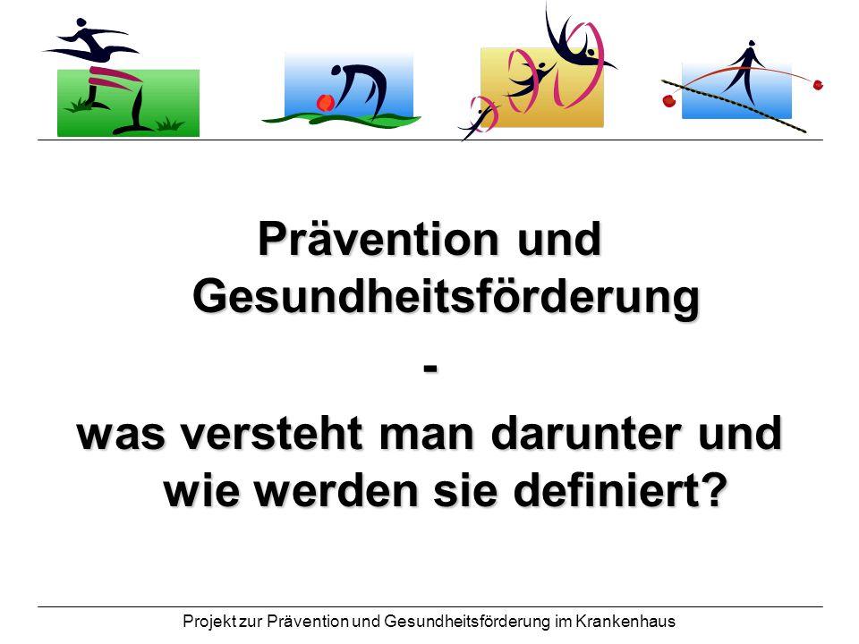 Prävention und Gesundheitsförderung -