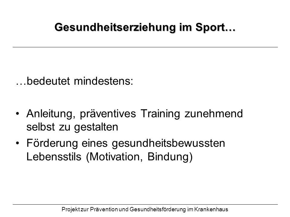 Gesundheitserziehung im Sport…