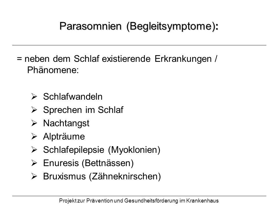 Parasomnien (Begleitsymptome):
