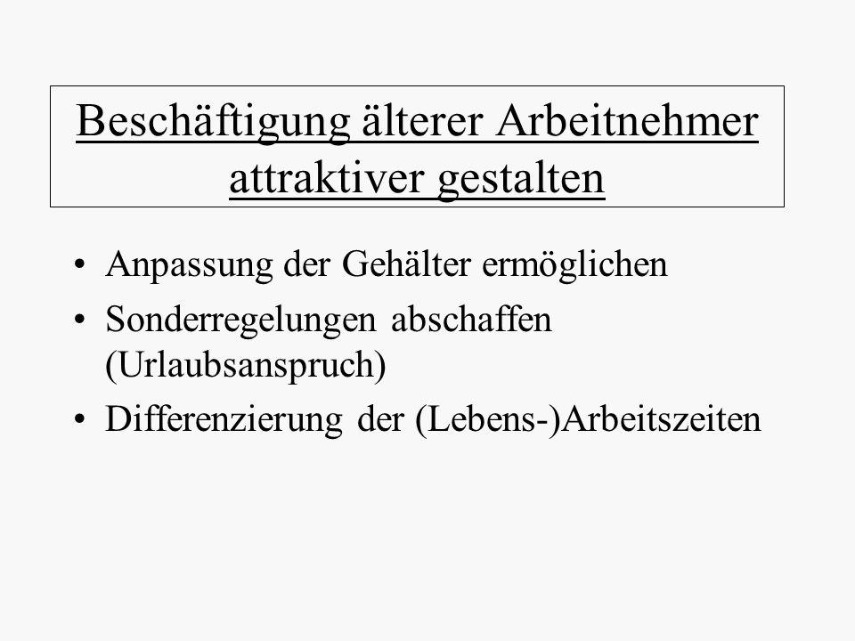 Beschäftigung älterer Arbeitnehmer attraktiver gestalten