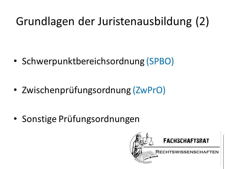 Grundlagen der Juristenausbildung (2)