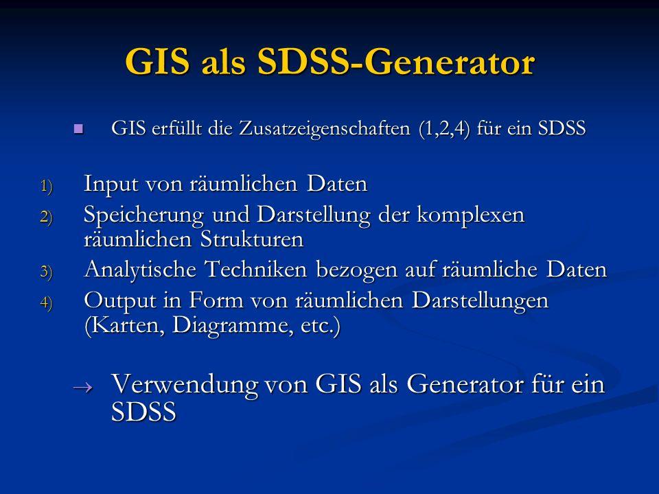GIS als SDSS-Generator