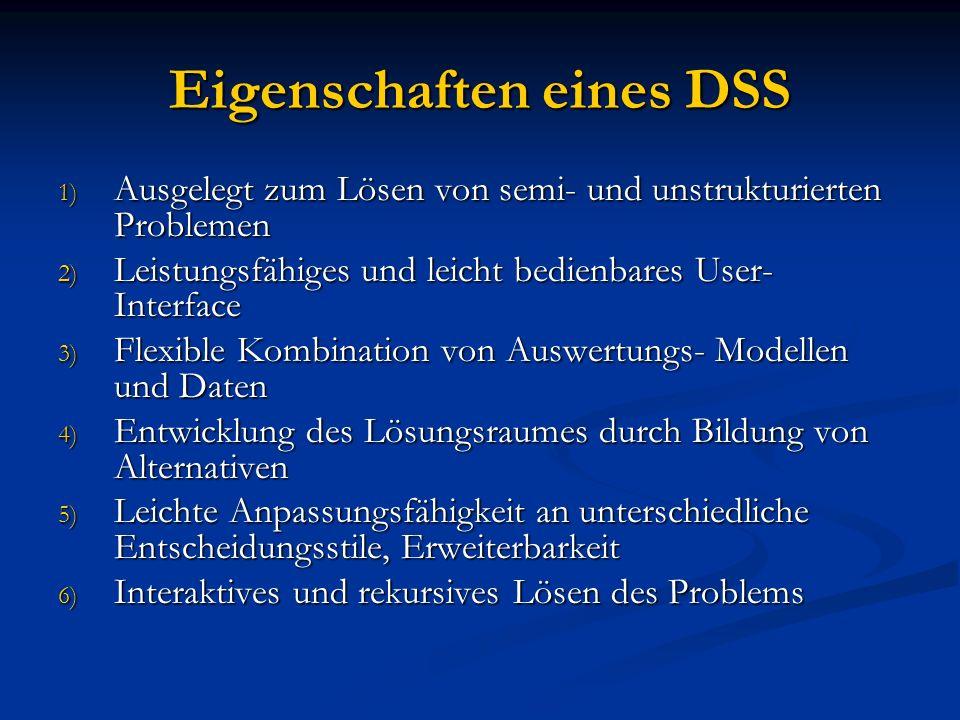 Eigenschaften eines DSS