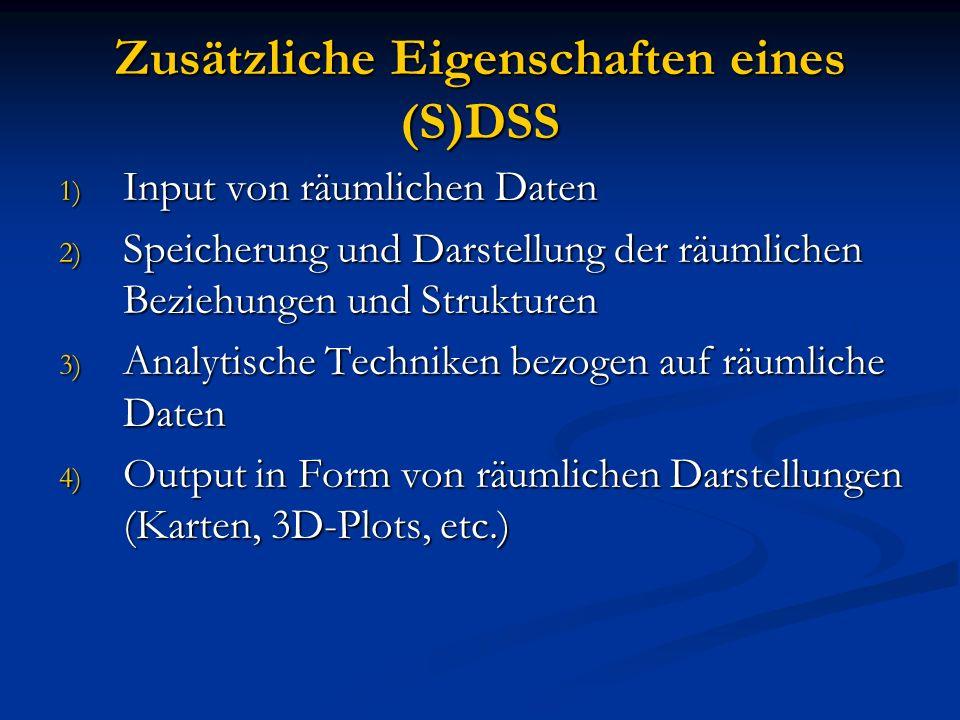 Zusätzliche Eigenschaften eines (S)DSS