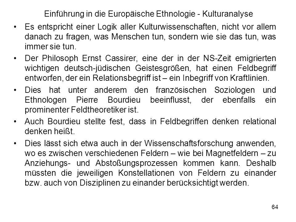 Einführung in die Europäische Ethnologie - Kulturanalyse